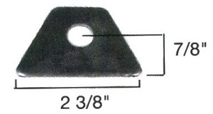 Seat tab 1/4 steel 1/2 hole
