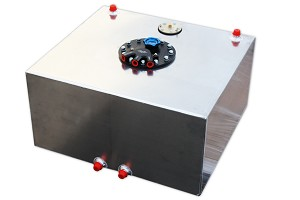 10 Gallon Flat Bottom Fuel Cell W/ 340LPH Internal Fuel Pump